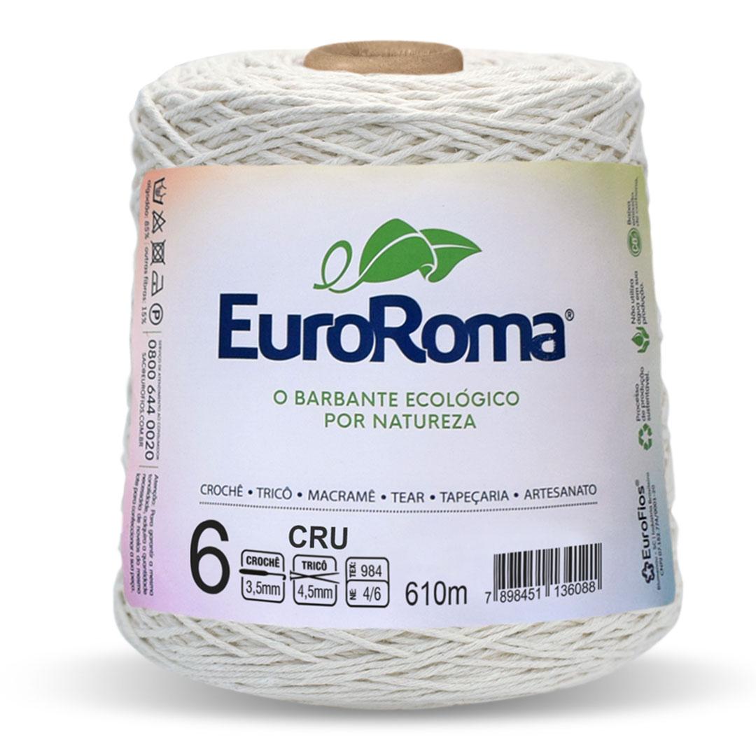 Barbante Cru Nº 6 Euroroma 600g