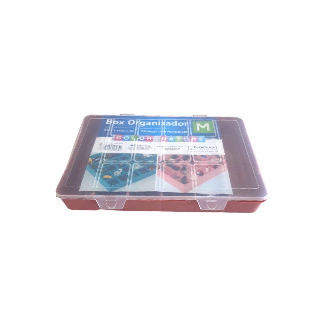 Caixa Box Organizadora Tam. M Ref. 705 cor Rosê med. 23 cm x 14 cm x 4 cm - Paramount