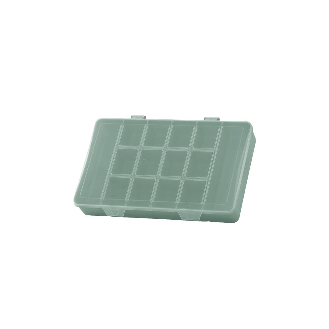 Caixa Box Organizadora Tam. M Ref. 705 cor Verde med. 23 cm x 14 cm x 4 cm - Paramount