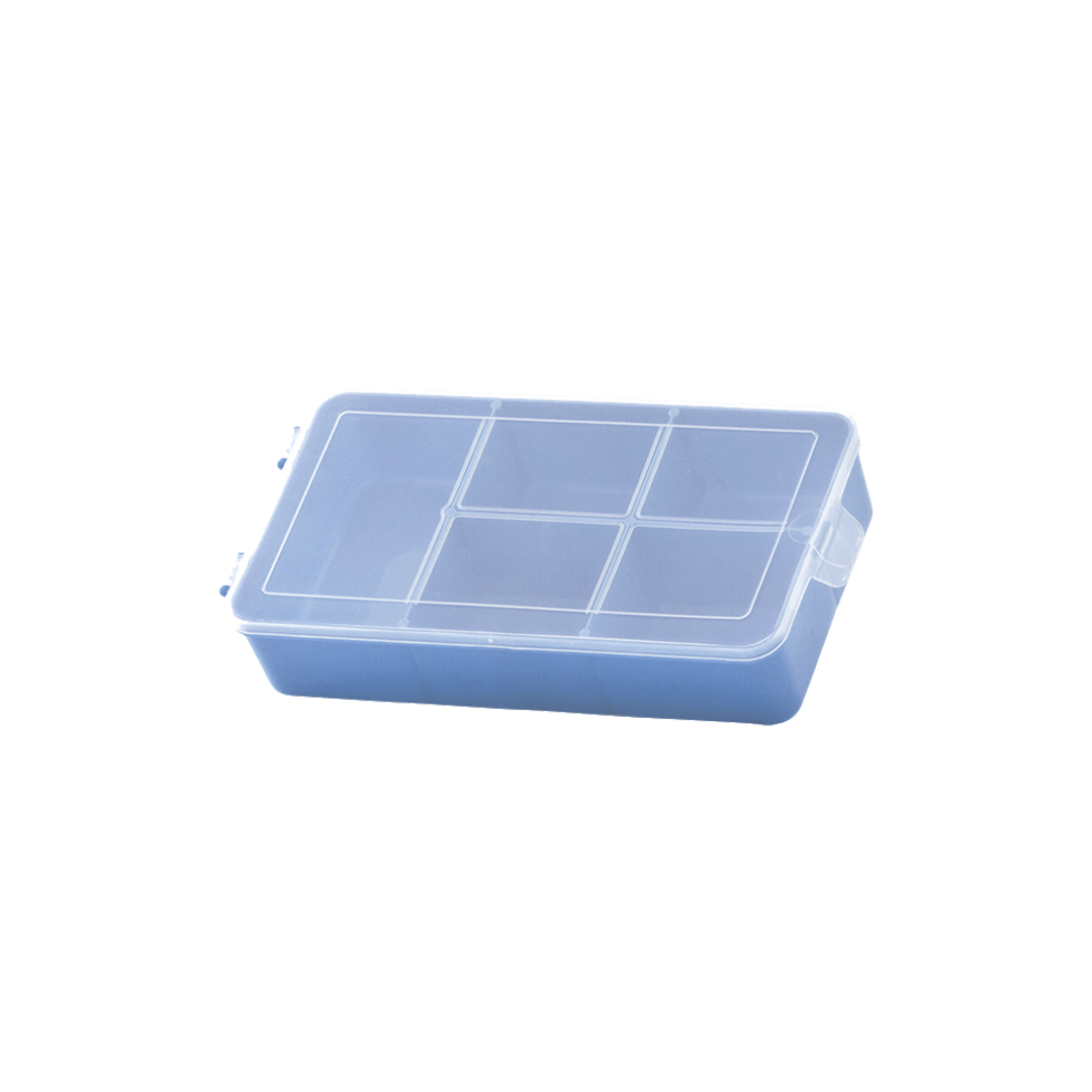 Caixa Box Organizadora Tam. P Ref. 704 cor Azul med. 16 cm x 9 cm x 3,5 cm - Paramount