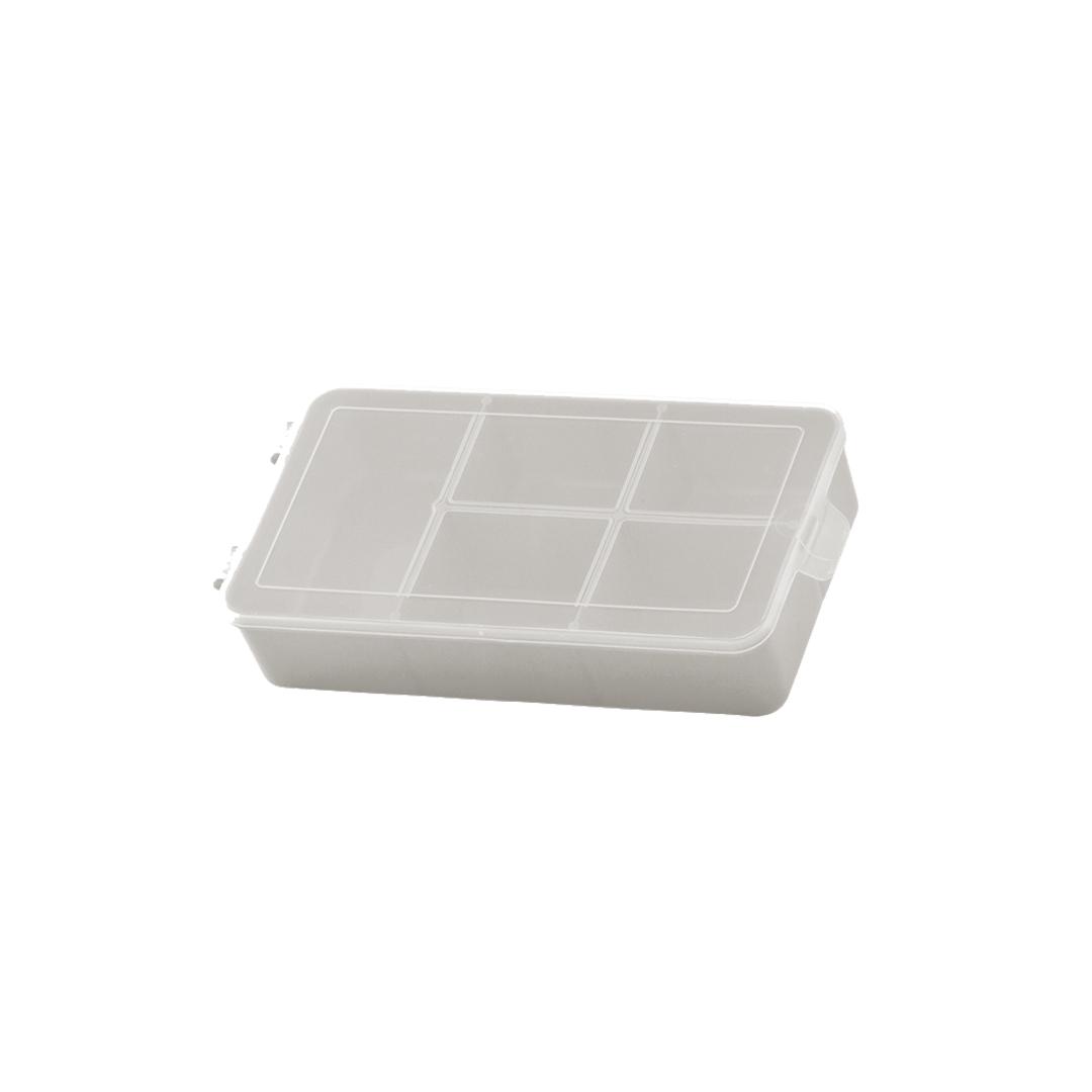 Caixa Box Organizadora Tam. P Ref. 704 cor Bege med. 16 cm x 9 cm x 3,5 cm - Paramount