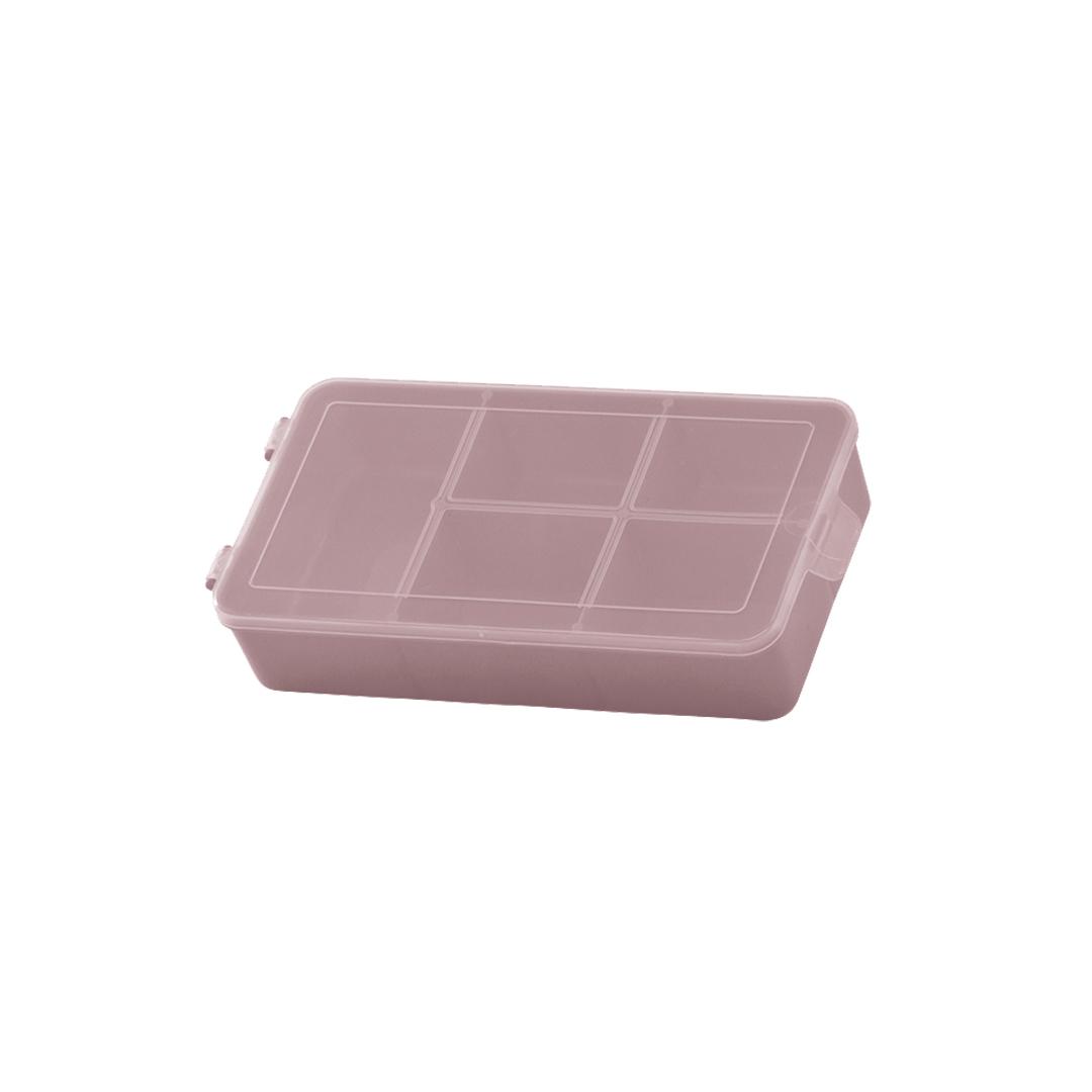 Caixa Box Organizadora Tam. P Ref. 704 cor Rosê med. 16 cm x 9 cm x 3,5 cm - Paramount