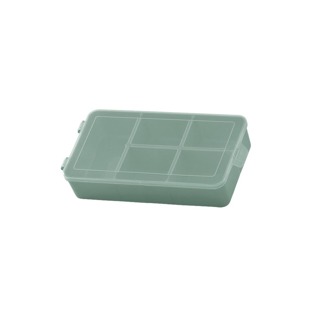 Caixa Box Organizadora Tam. P Ref. 704 cor Verde med. 16 cm x 9 cm x 3,5 cm - Paramount