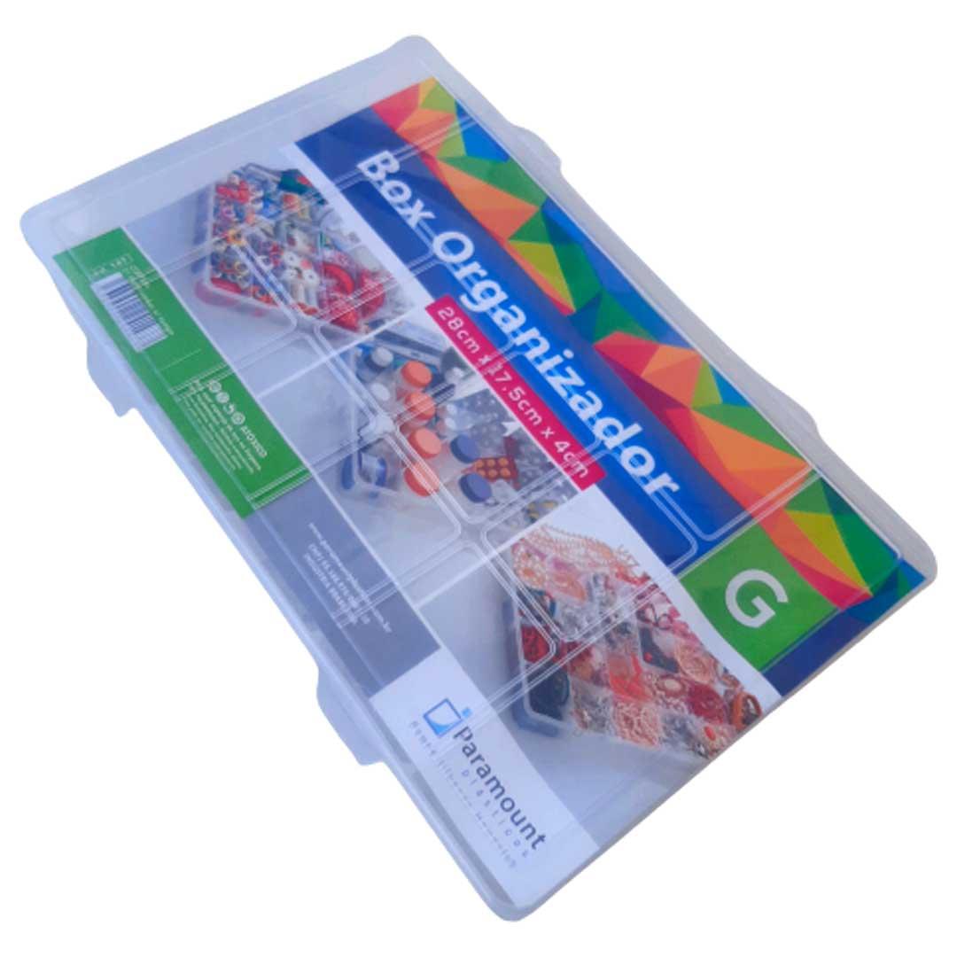 Caixa Box Organizadora Transparente Tam. G Ref. 147 med. 28 cm x 17,5 cm x 4 cm - Paramount