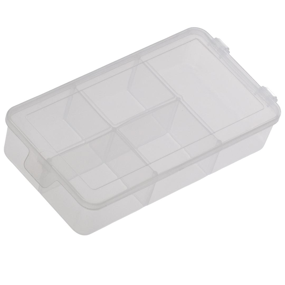 Caixa Box Organizadora Transparente Tam. P Ref. 142 med. 16 cm x 9 cm x 3,5 cm - Paramount