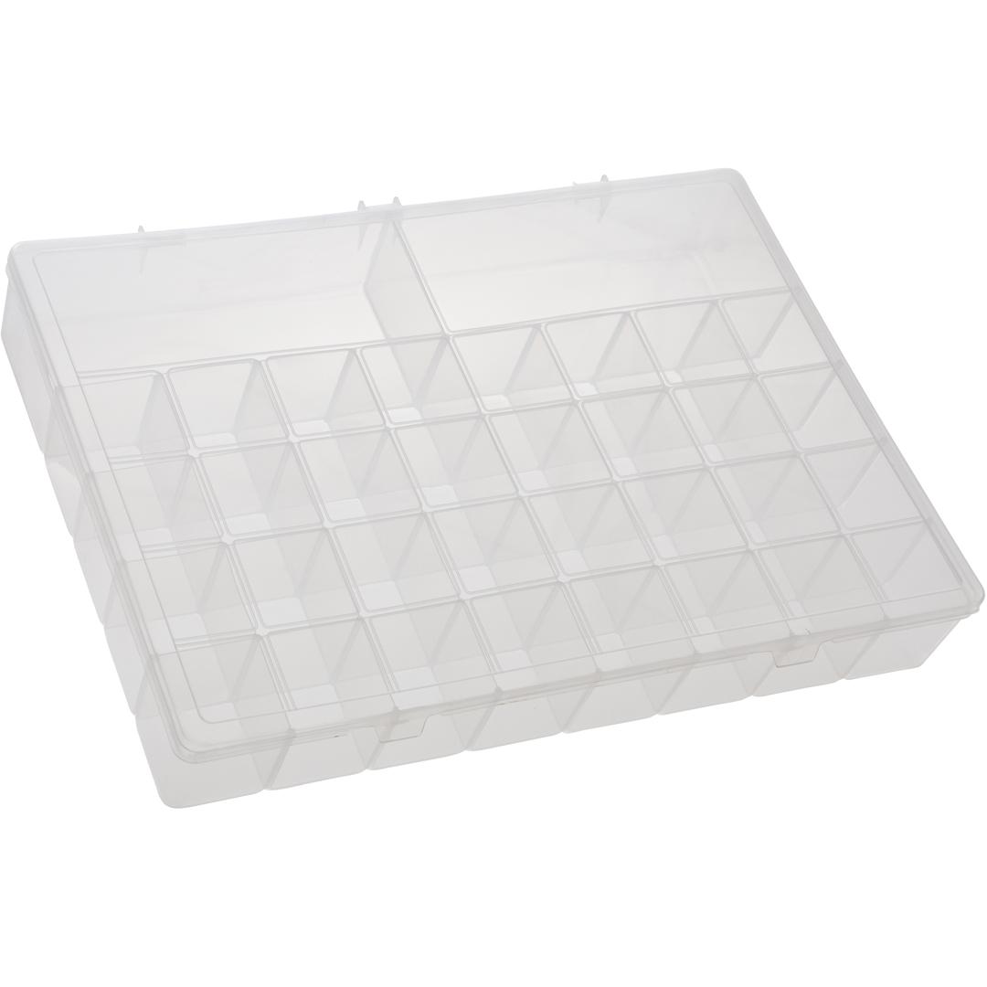 Caixa Box Organizadora Transparente Tam. Plus Ref. 346 med. 34,5 cm x 49 cm x 6,5 cm - Paramount