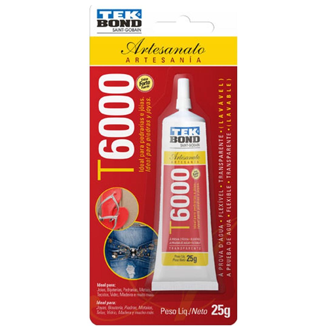 Cola Adesivo para Artesanato T6000 25g Tek Bond