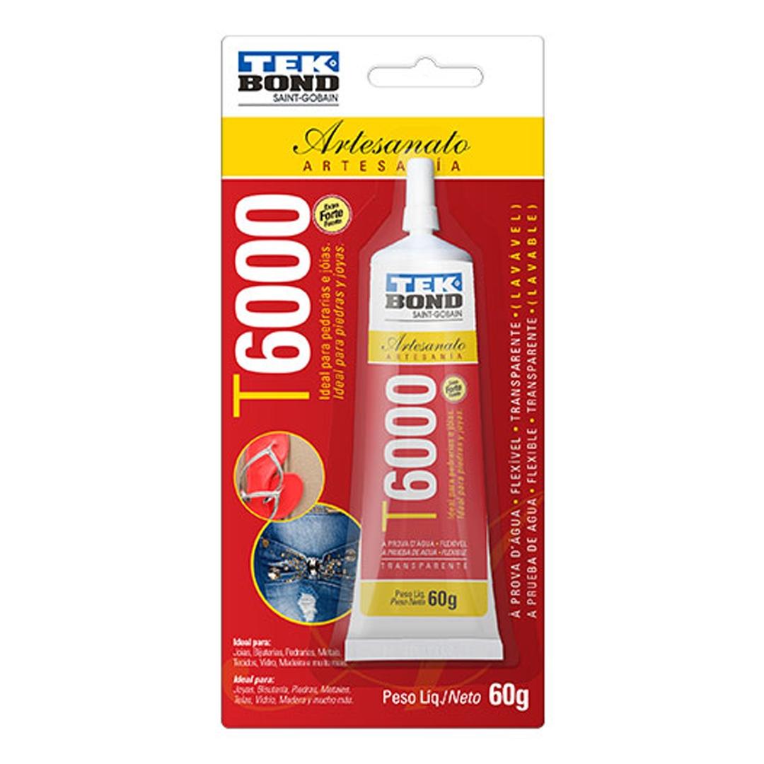 Cola Adesivo para Artesanato T6000 60g Tek Bond Caixa com 12 unidades
