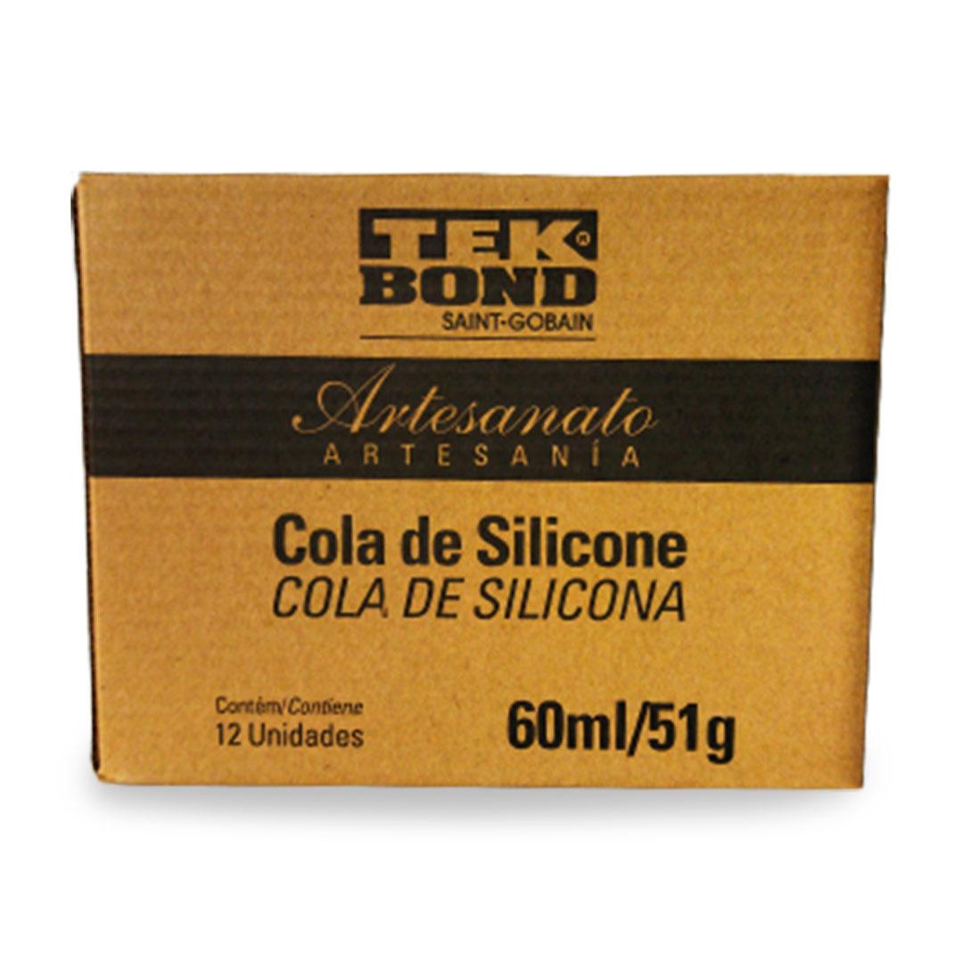 Cola de Silicone para Artesanato de 60ml 51g Caixa com 12 unidades Tek Bond