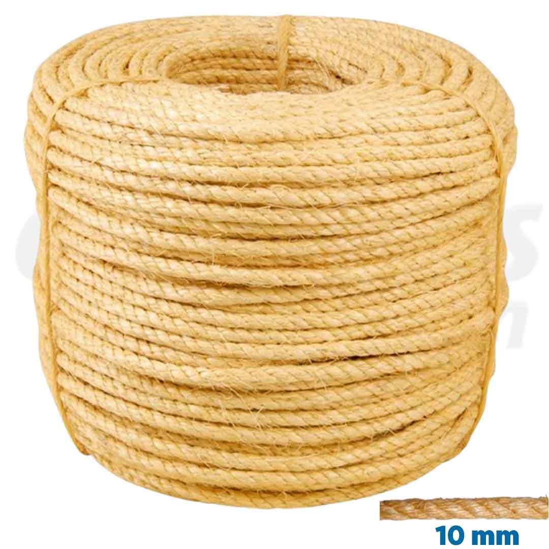 Corda de Sisal Natural de 10mm rolo com 220m