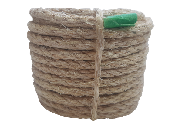 Corda de Sisal Natural de 6mm Rasado rolo c/ 15 metros