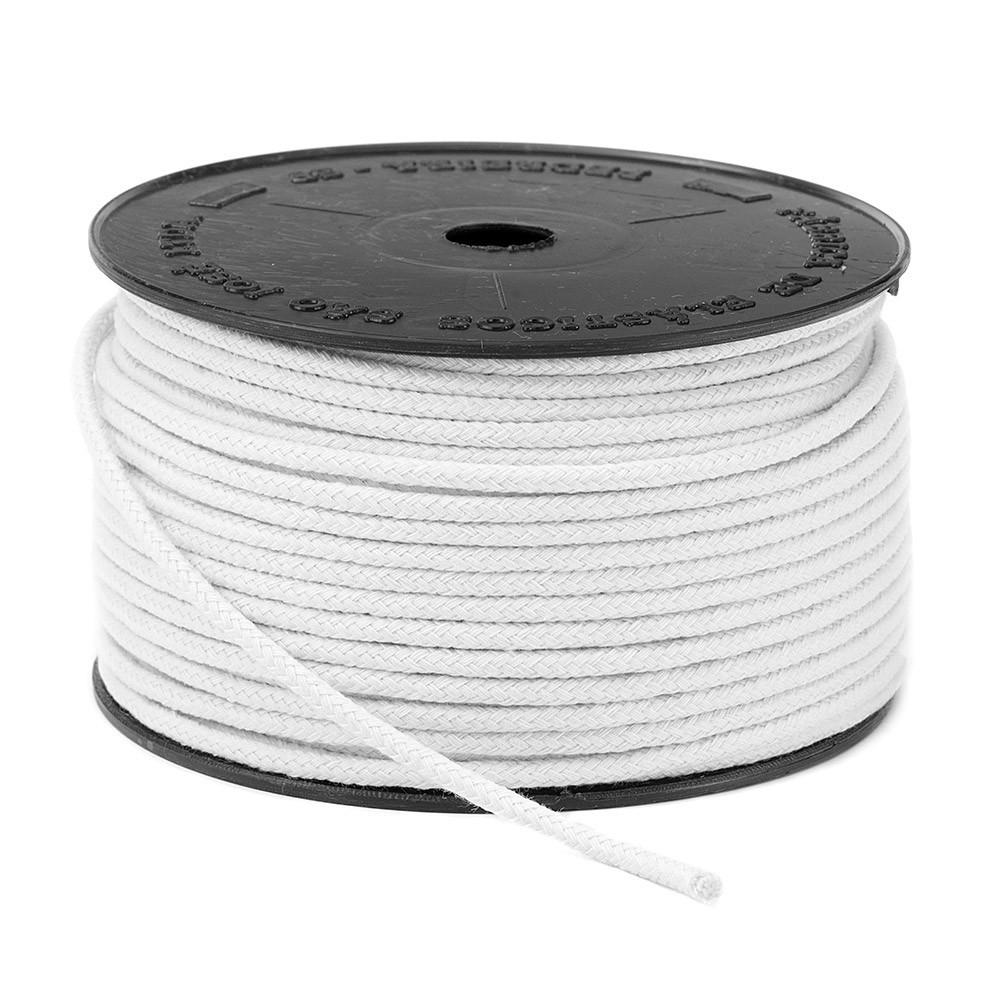 Cordão Trançado São José de Algodão Branco Ref.3035 3mm 50 Metros
