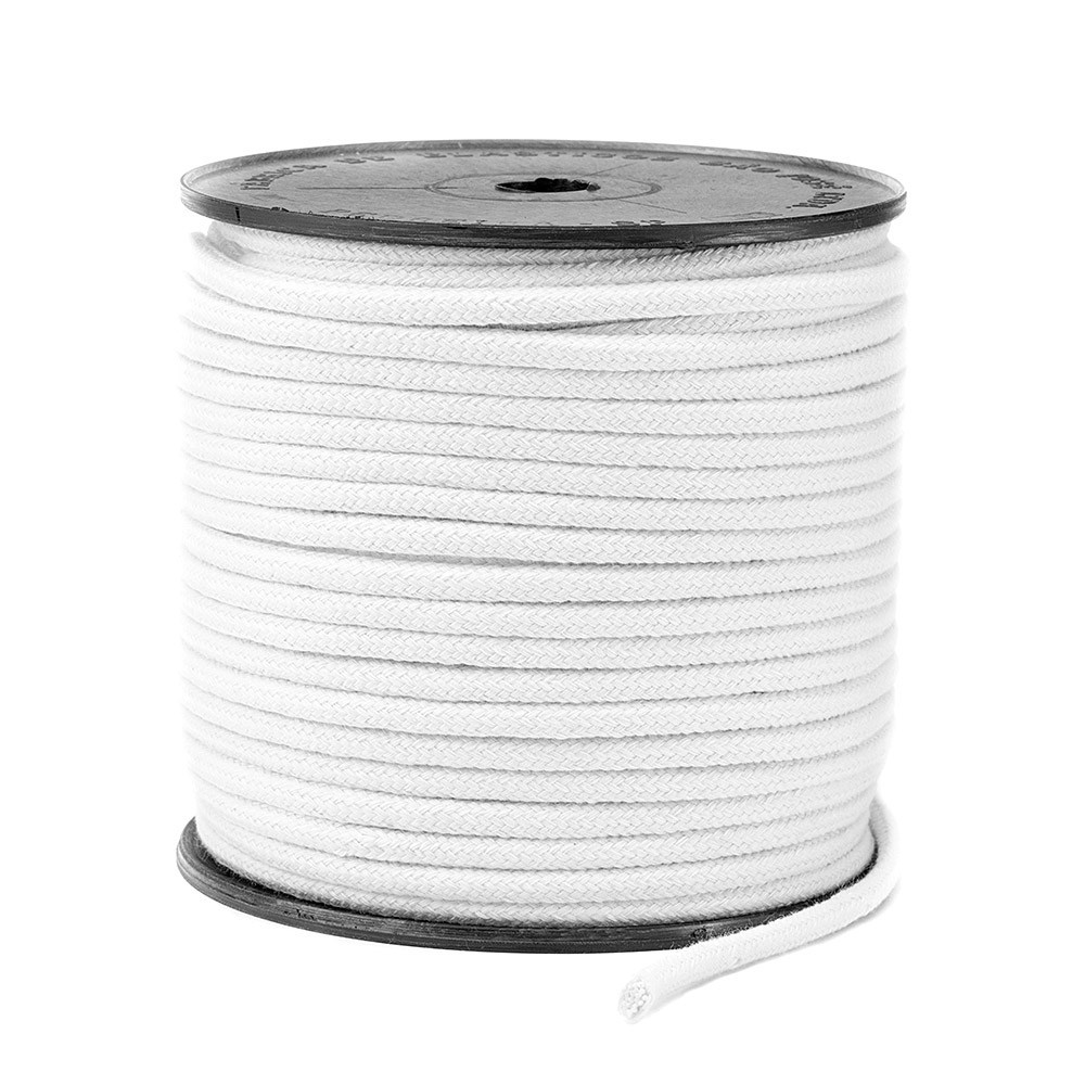 Cordão Trançado São José de Algodão Branco Ref.3037 5mm 50 Metros