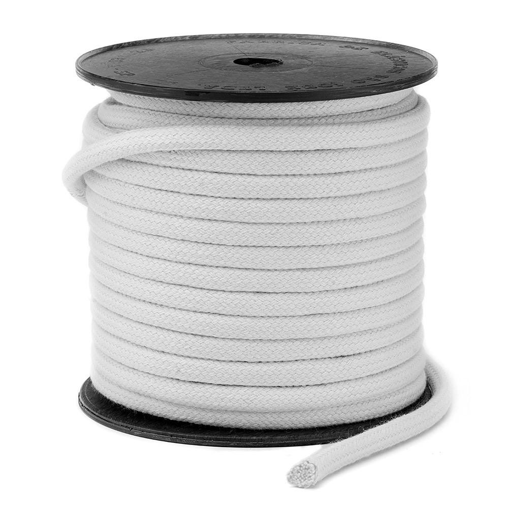 Cordão Trançado São José de Algodão Branco Ref.3039 8mm 20 Metros