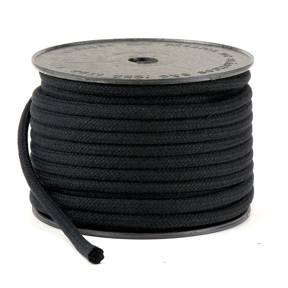 Cordão Trançado São José de Algodão Preto Ref.3048 6mm 20 Metros