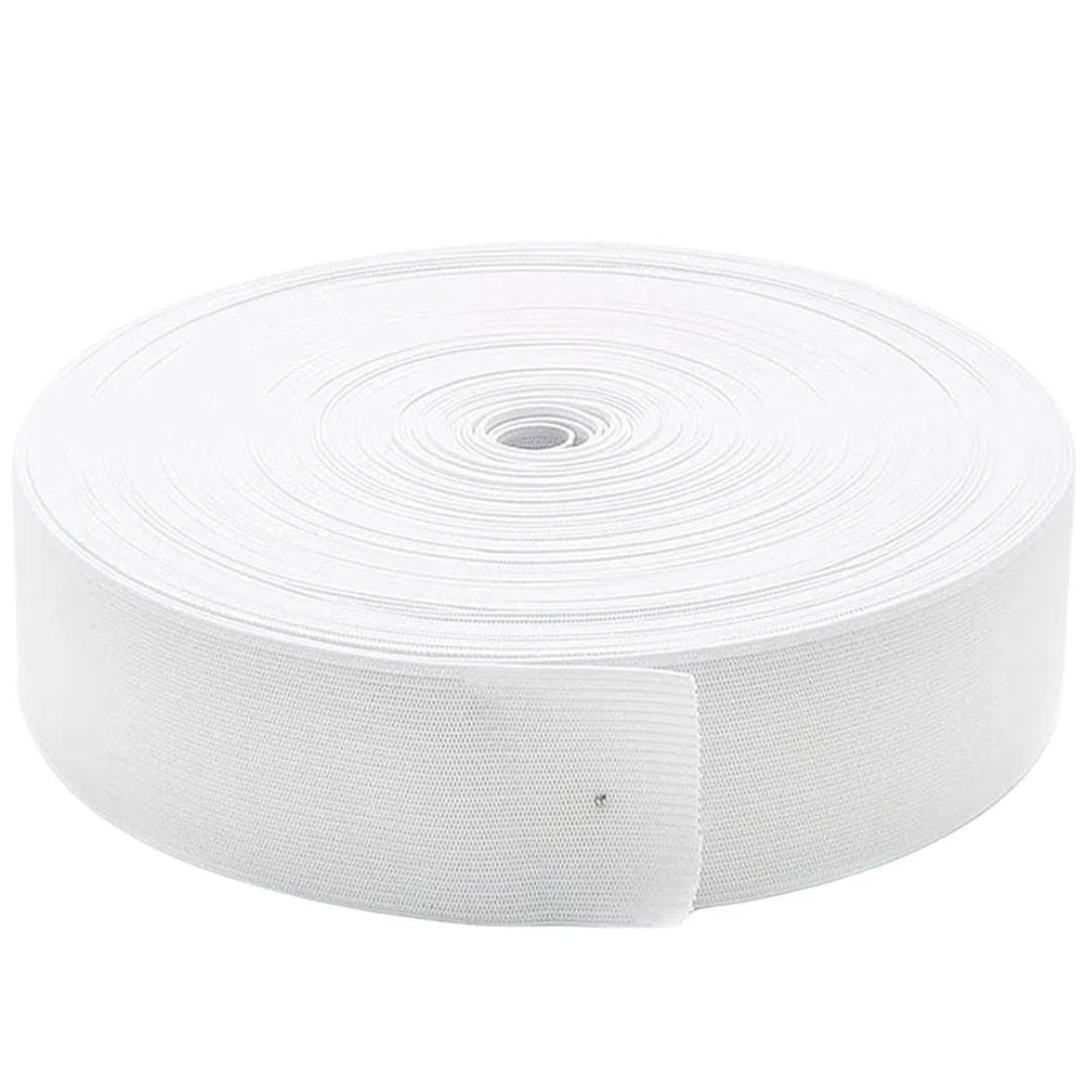Elástico de Embutir Branco Nº 40 de 3,9 cm com 25 metros