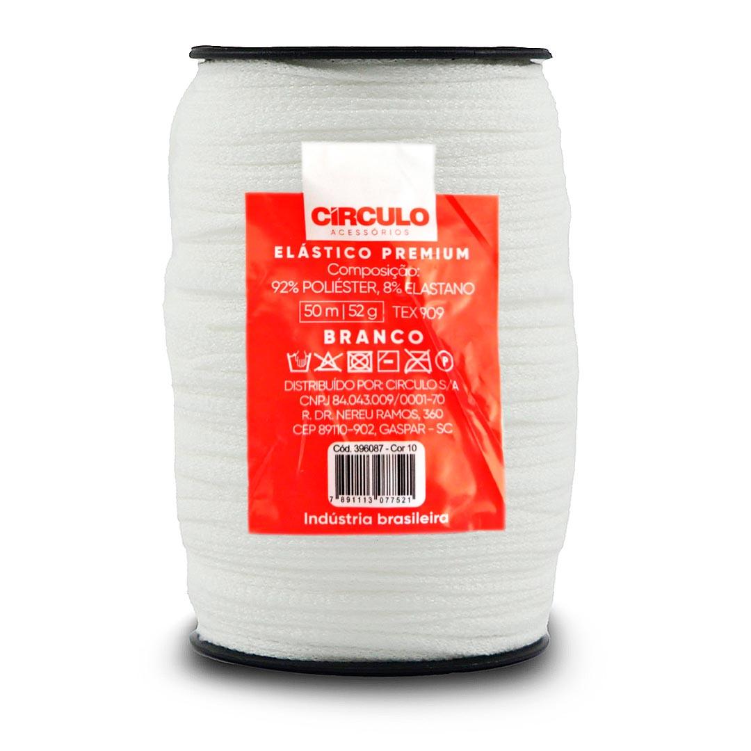 Elástico Roliço Premium Circulo 50 metros cor 10 - Branco