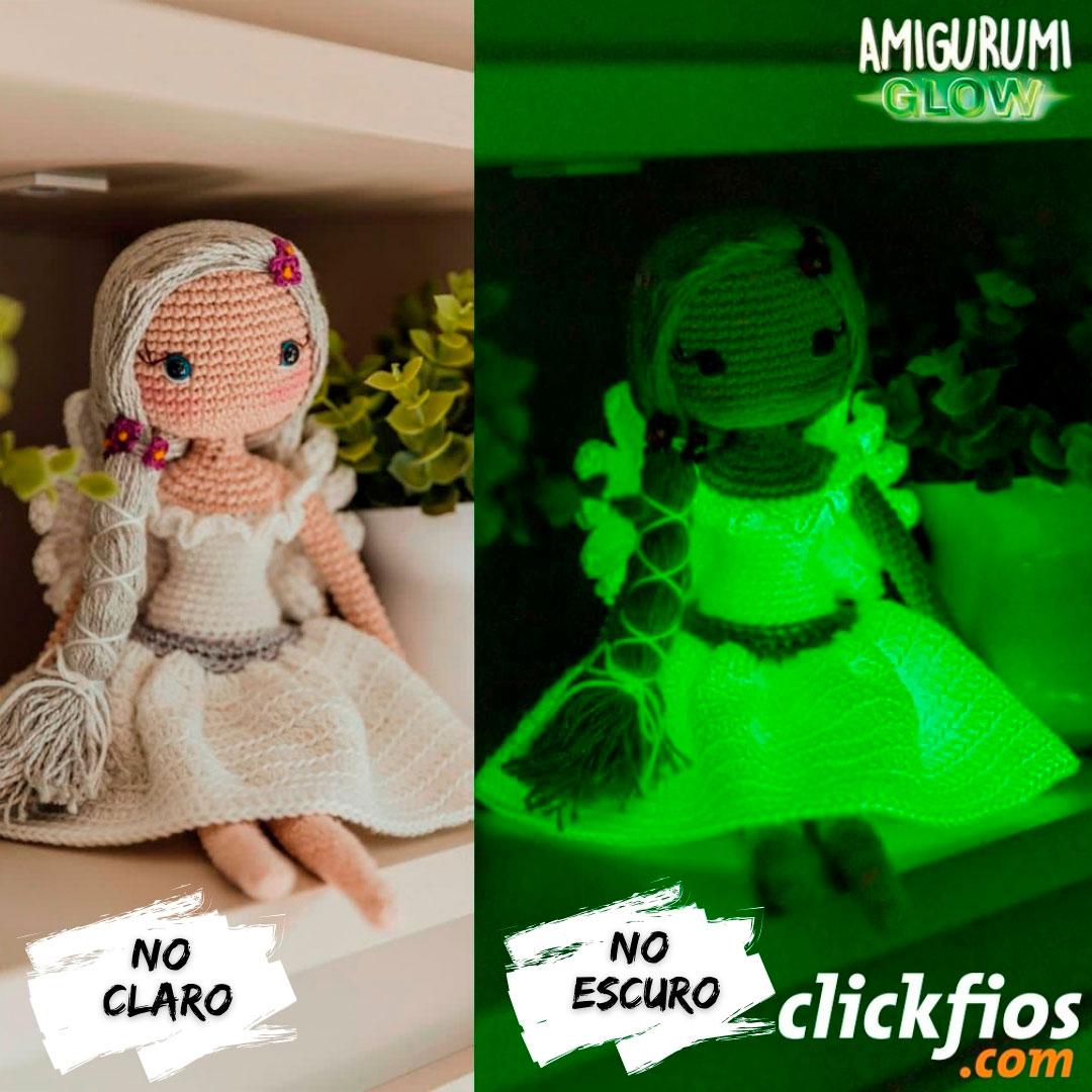 Fio Amigurumi Glow Brilha no Escuro Circulo 50g Cor: 10
