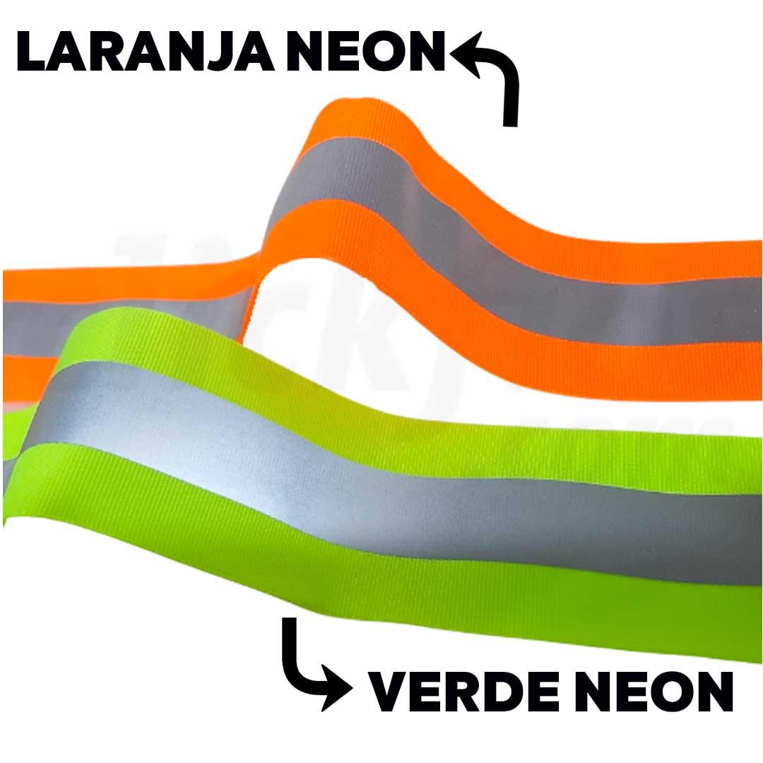 Fita Refletiva Fluorescente Laranja Neon Larg. 5 cm pç. 50 metros