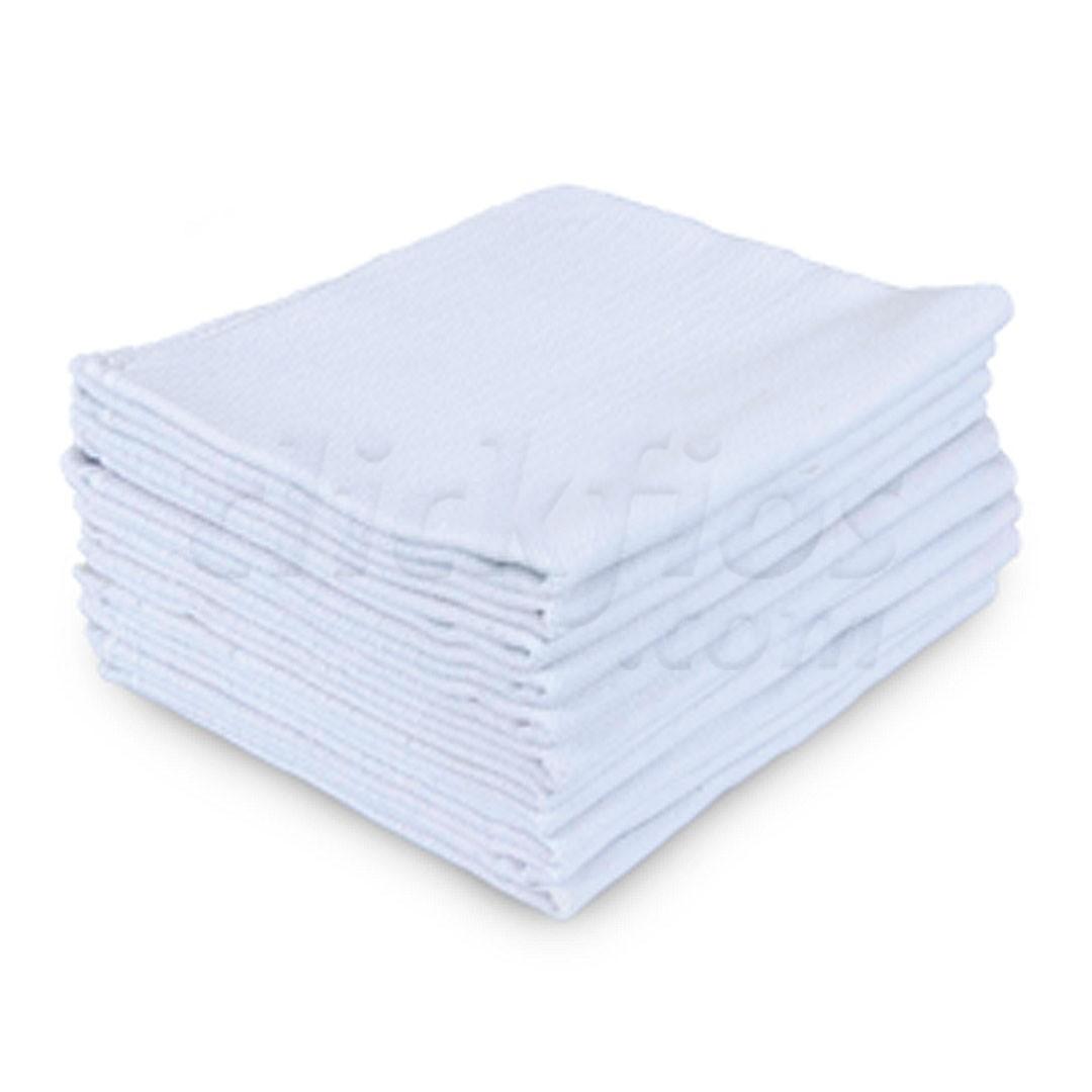 Kit 10 Panos de Prato Liso Branco PP24 com Bainha med. 41x69cm Artfios