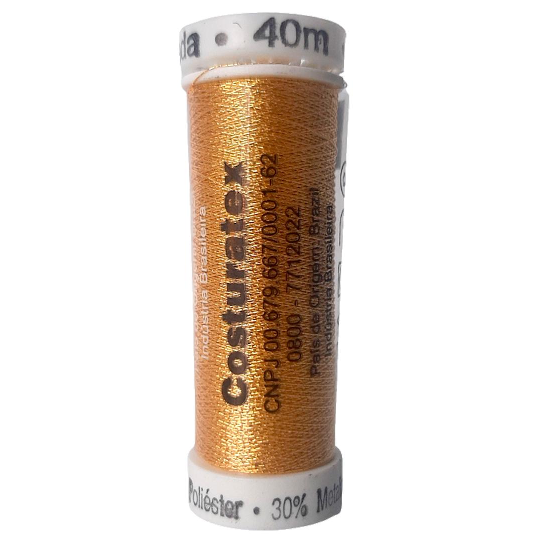 Linha Dourada Metalizada para Bordar Costuratudo