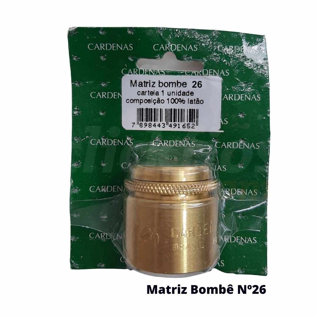 Matriz para Botão Bombê Redondo para forração de botão 26mm - Cardenas