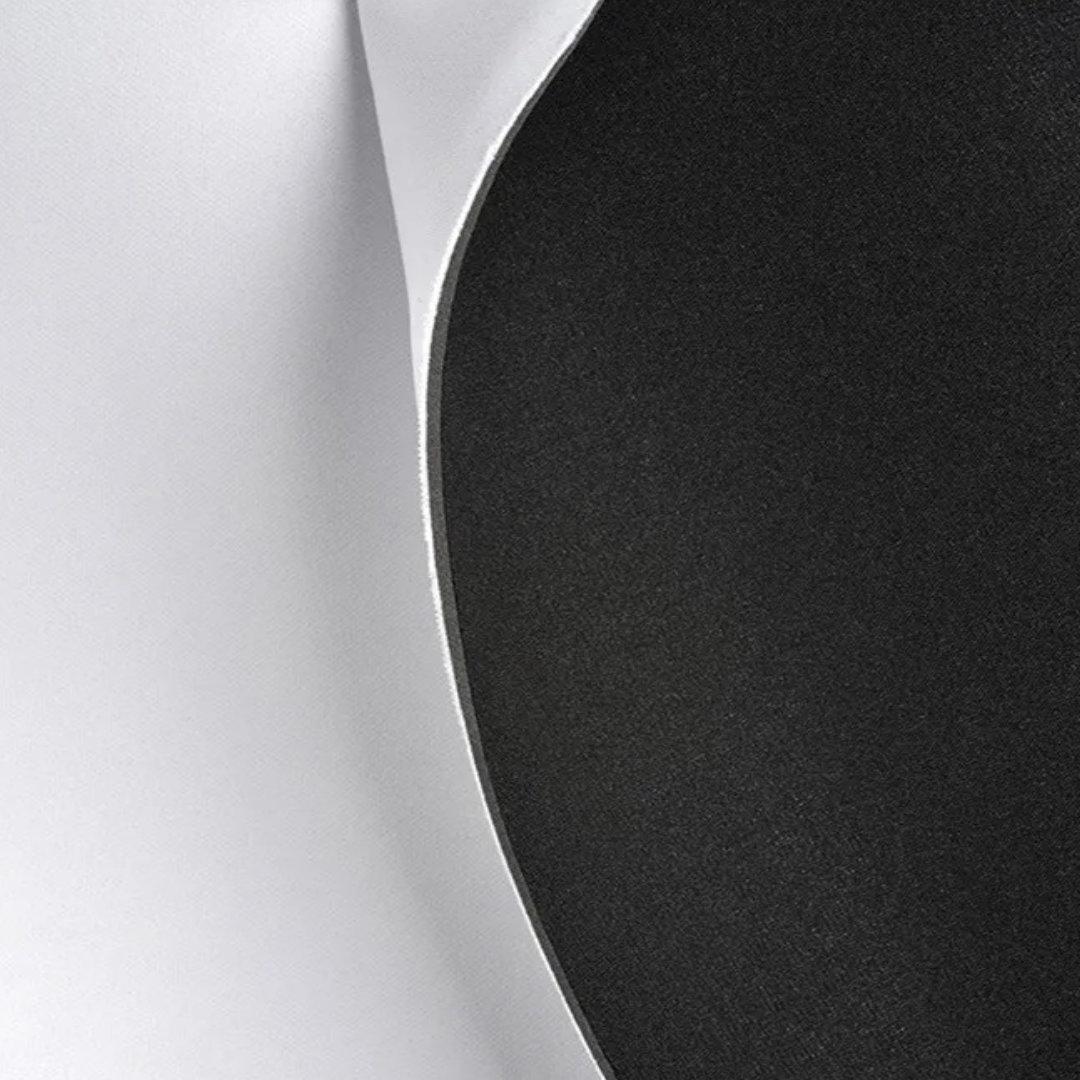 Neoplex tipo Neoprene de 2,0mm Branco e Preto - 1,40m de Largura