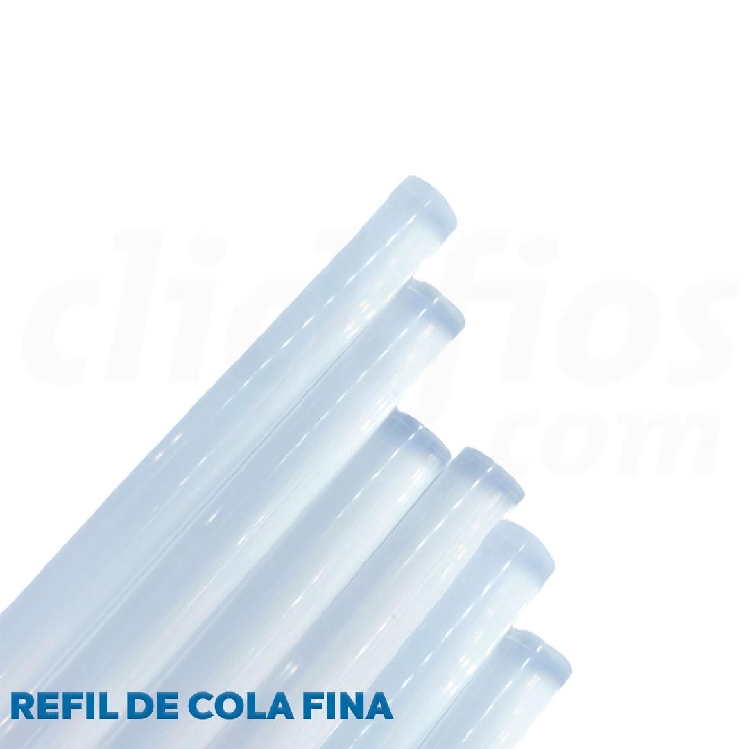Refil Cola Quente Fina Transparente diam. 7,5 mm
