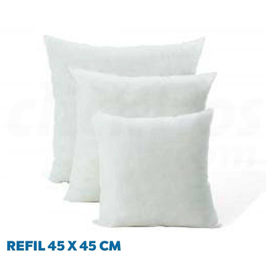 Refil de Almofada 45 x 45 cm fibra de 100% Poliéster Siliconada