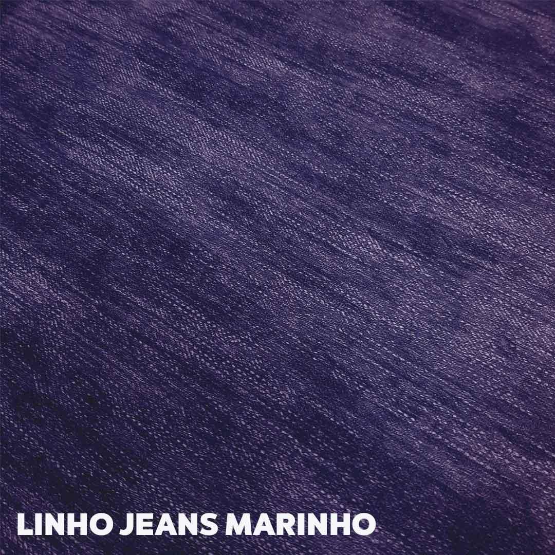 Sintético Linho Jeans 0.9mm cor Azul Marinho med. 0,50 x 1,40 m