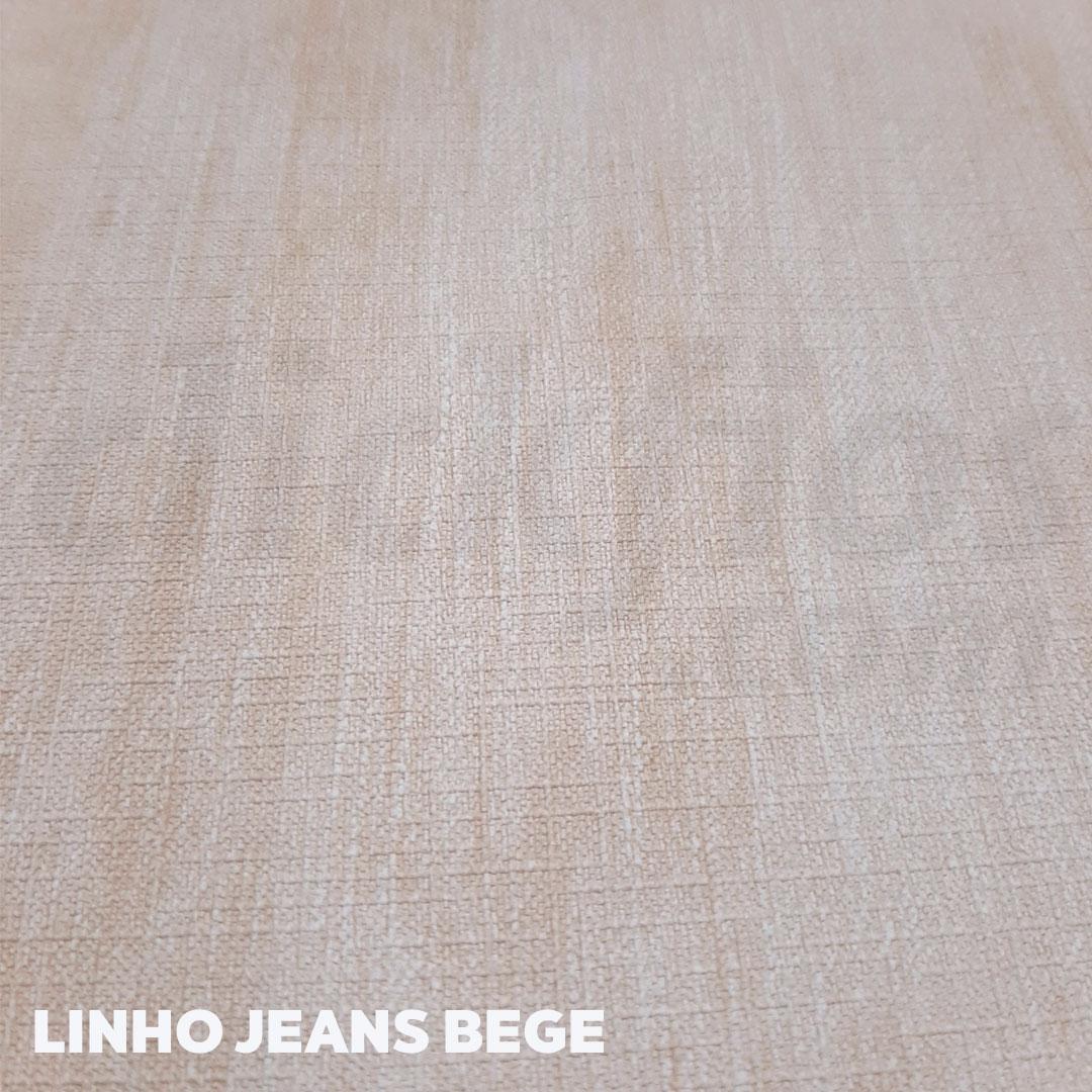 Sintético Linho Jeans 0.9mm cor Bege med. 0,50 x 1,40 m
