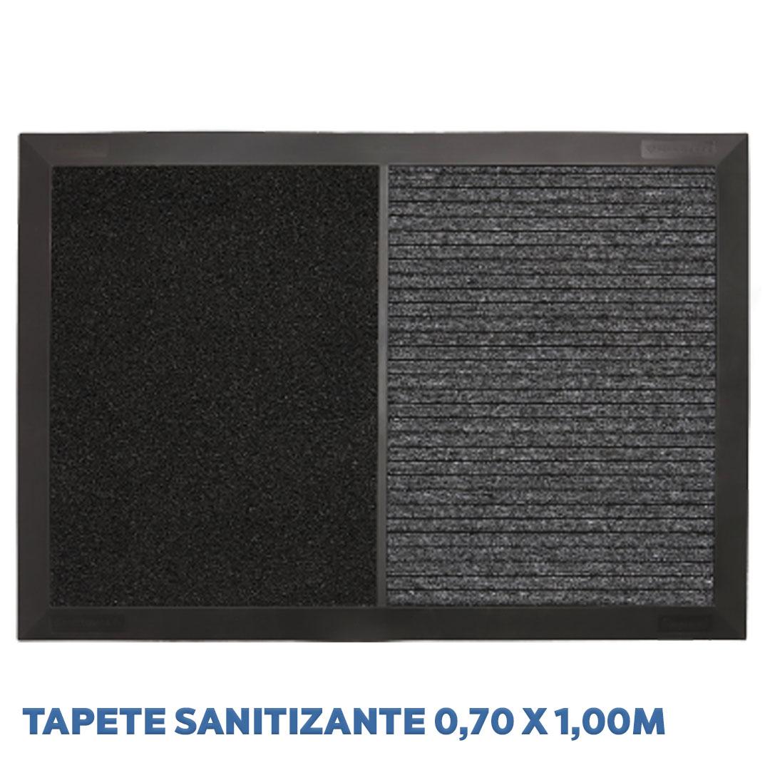 Tapete Sanitizante Preto 2 em 1 - 70cm x 100cm Kapazi