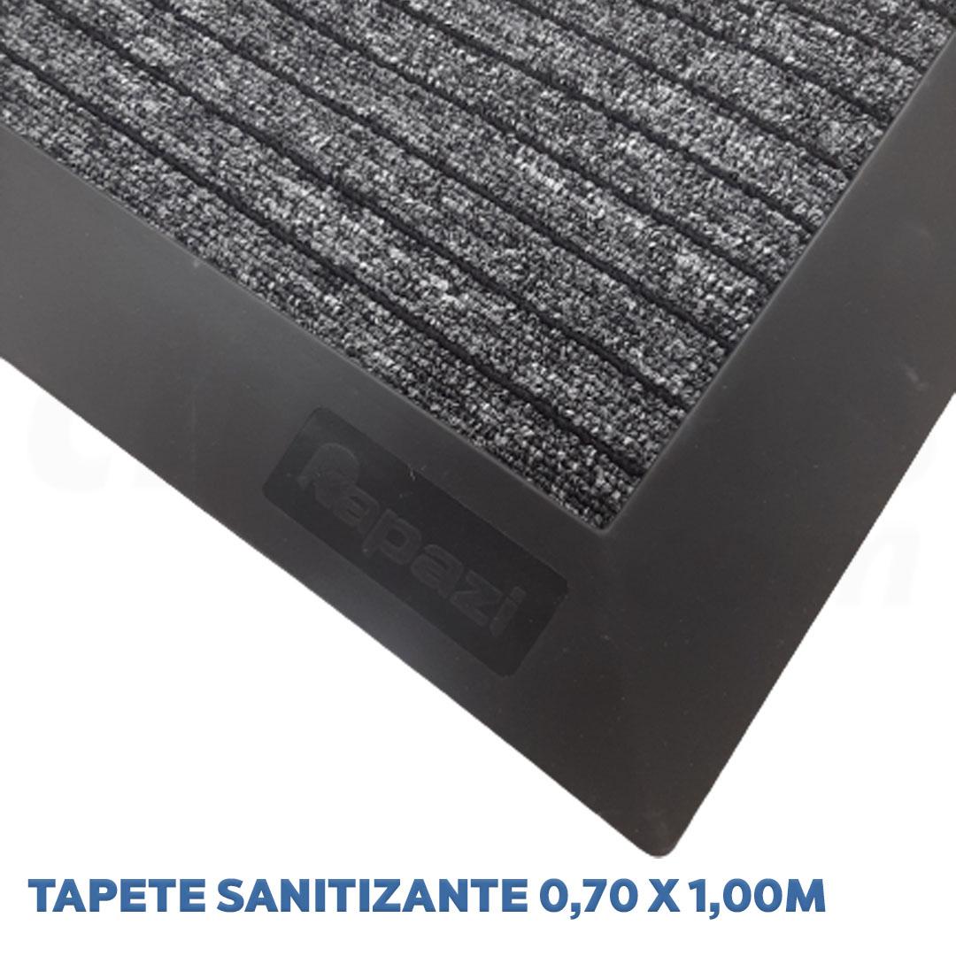 Tapete Sanitizante Preto 2 em 1 med. 70cm x 100cm Kapazi