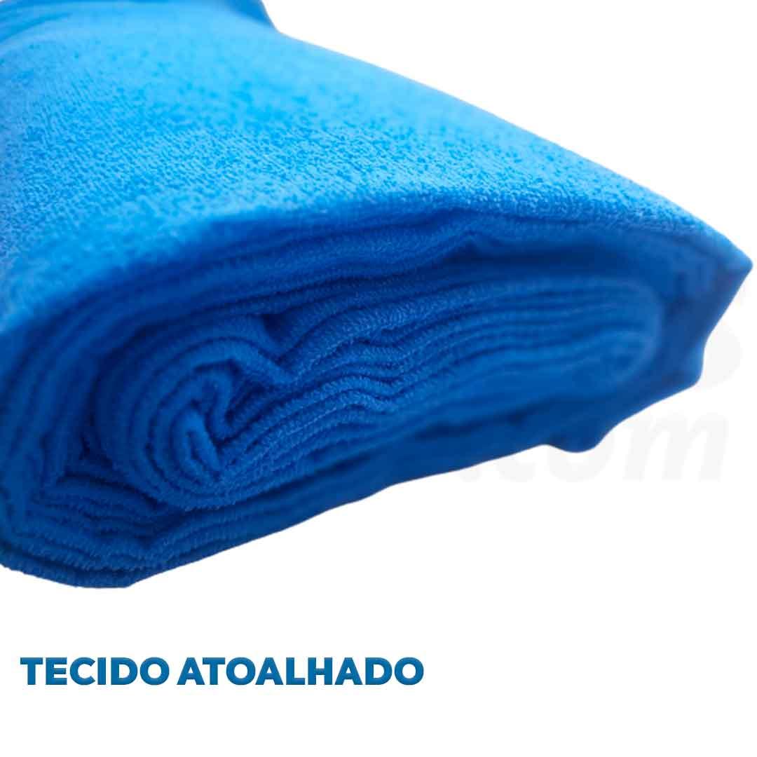 Tecido Atoalhado Felpudo Azul ref. 11845 Dohler 0,50 x 1,40 m.