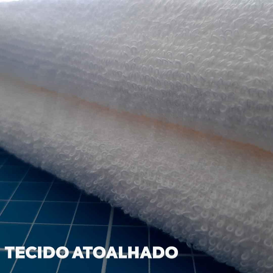 Tecido Atoalhado Felpudo Branco ref. 11845 Dohler 0,50 x 1,40 m.