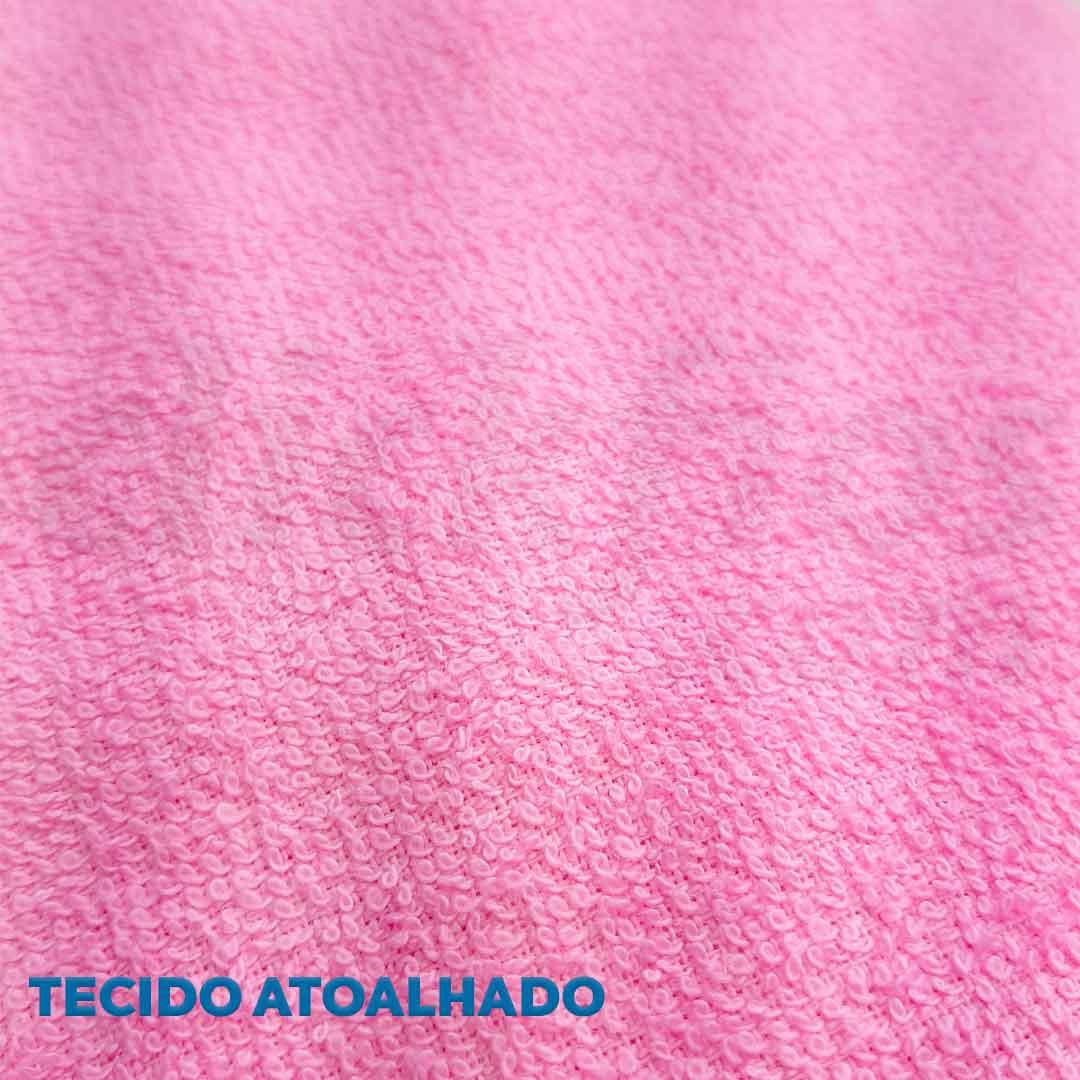 Tecido Atoalhado Felpudo Rosa ref. 11845 Dohler 0,50 x 1,40 m.