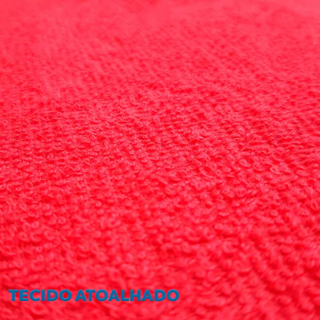 Tecido Atoalhado Felpudo Vermelho ref. 11845 Dohler 0,50 x 1,40 m.