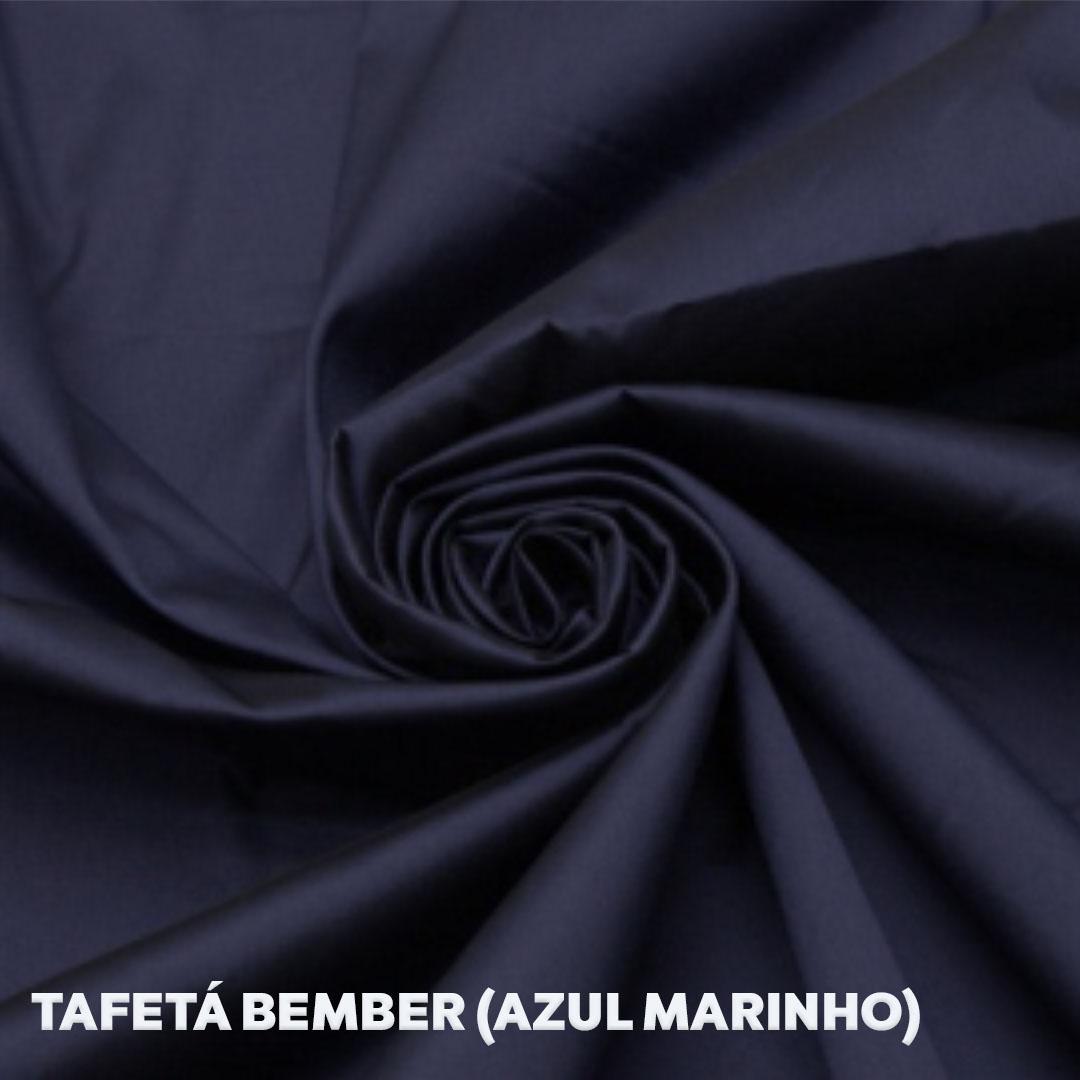 Tecido Bember para forro cor azul marinho med. 0,50 x 1,50m