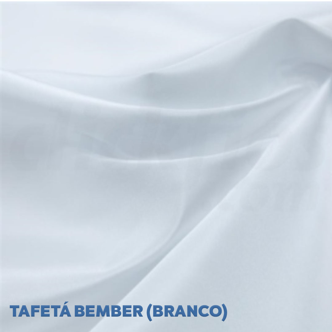 Tecido Bember para forro cor branco med. 0,50 x 1,50m