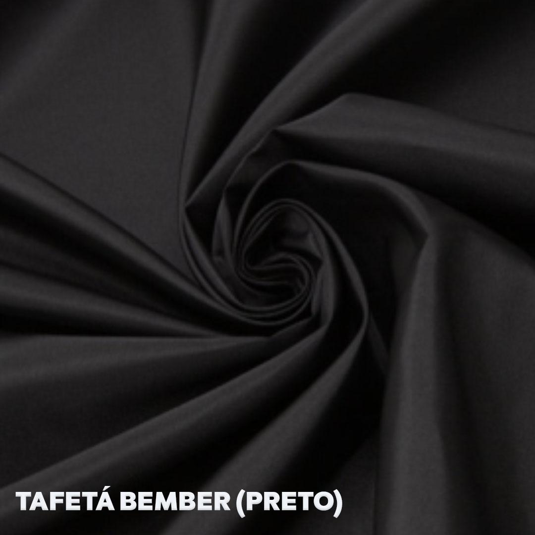 Tecido Bember para forro cor preto med. 0,50 x 1,50m