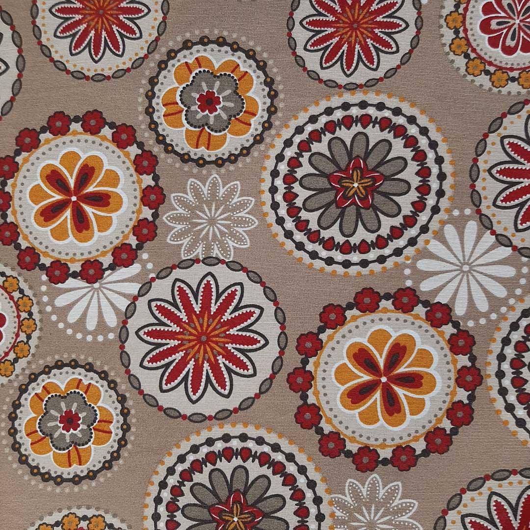 Tecido de Decoração Belize Estampado c/ Proteção Ref. 5608 cor A med. 0,50 x 1,40m Dohler