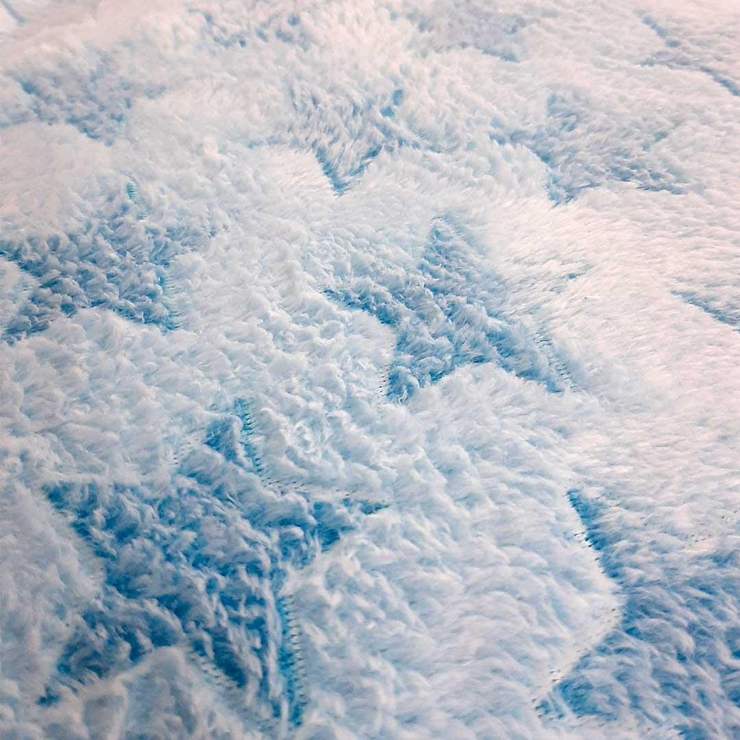 Tecido Fleece Estampado Estrela Azul 192623  med. 0,50 x 1,60 m