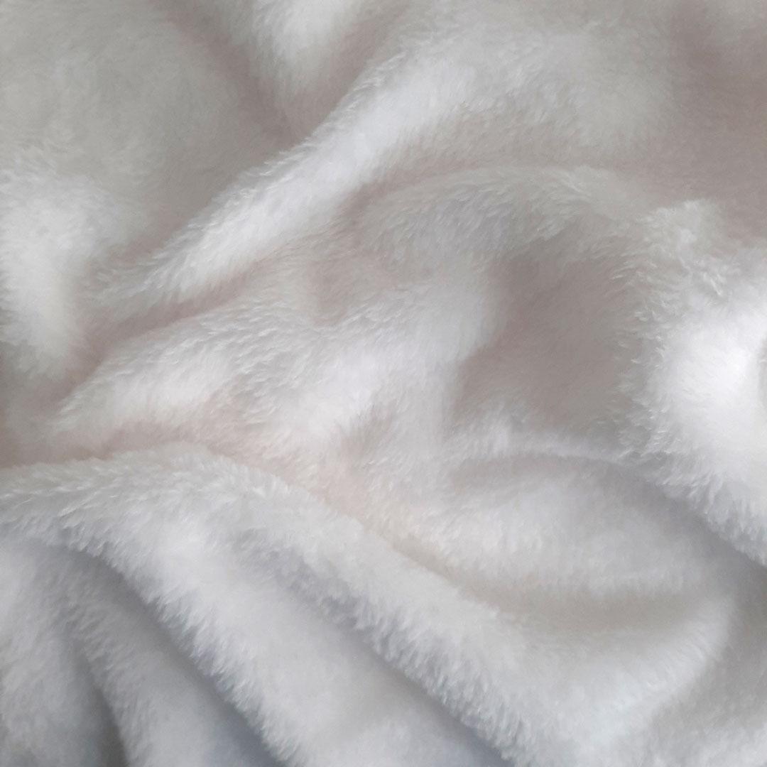 Tecido Fleece Liso med. 0,50 x 1,60 m Ref. 192623 cor Branco