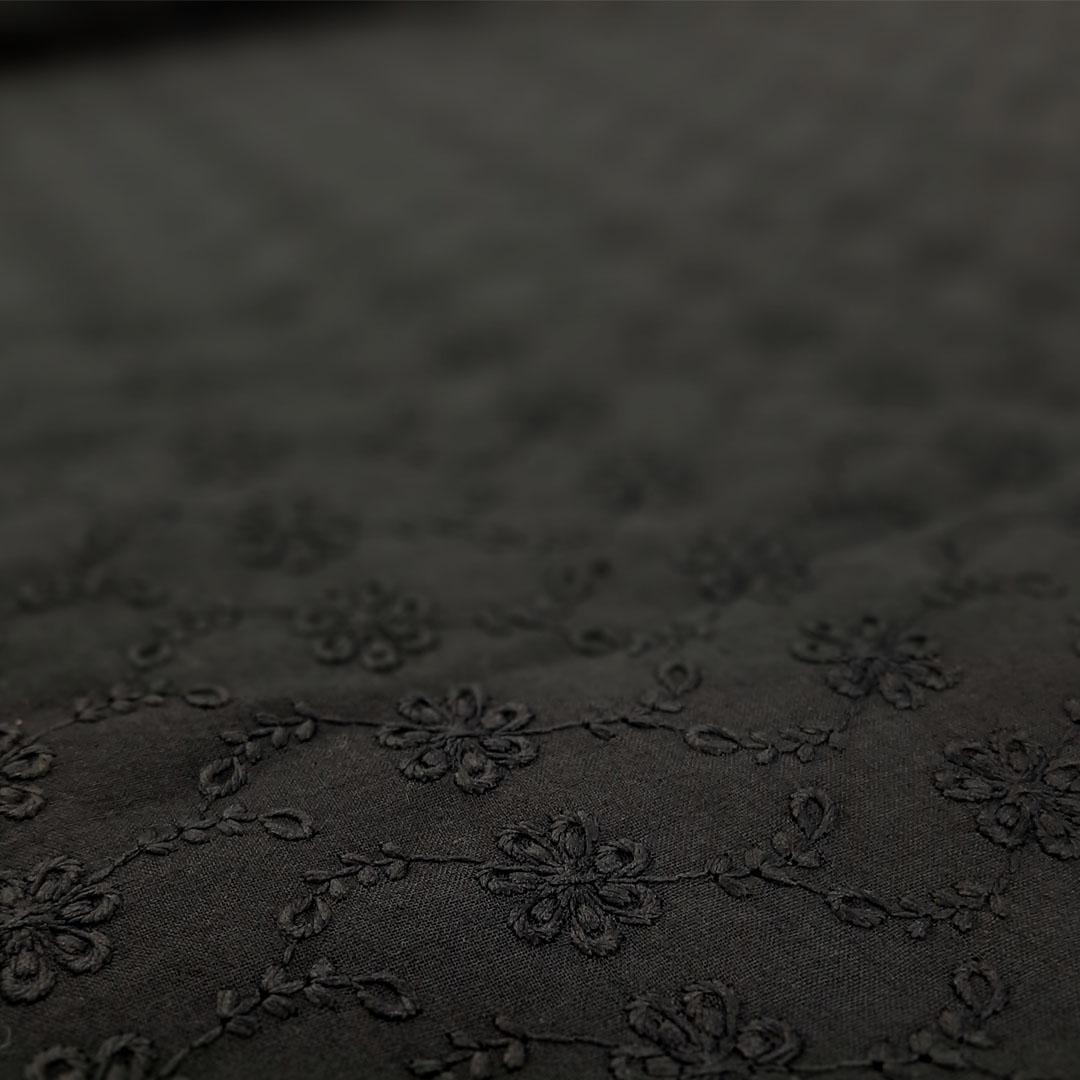 Tecido Laise Cor: Preto med. 0,50 x 1,45 m