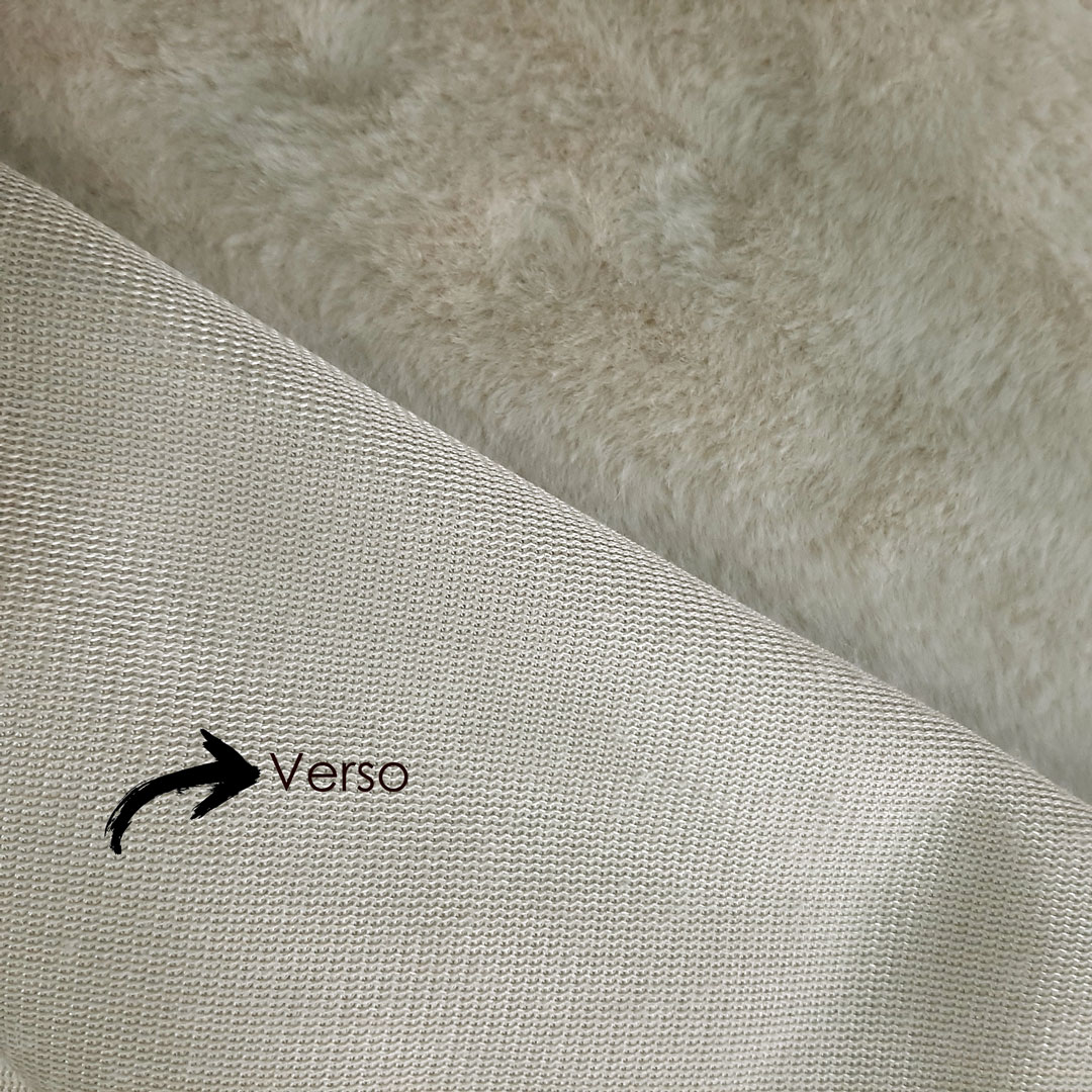 Tecido Pele Ágata Importada cor: Bege med. 0,50 x 1,60 m