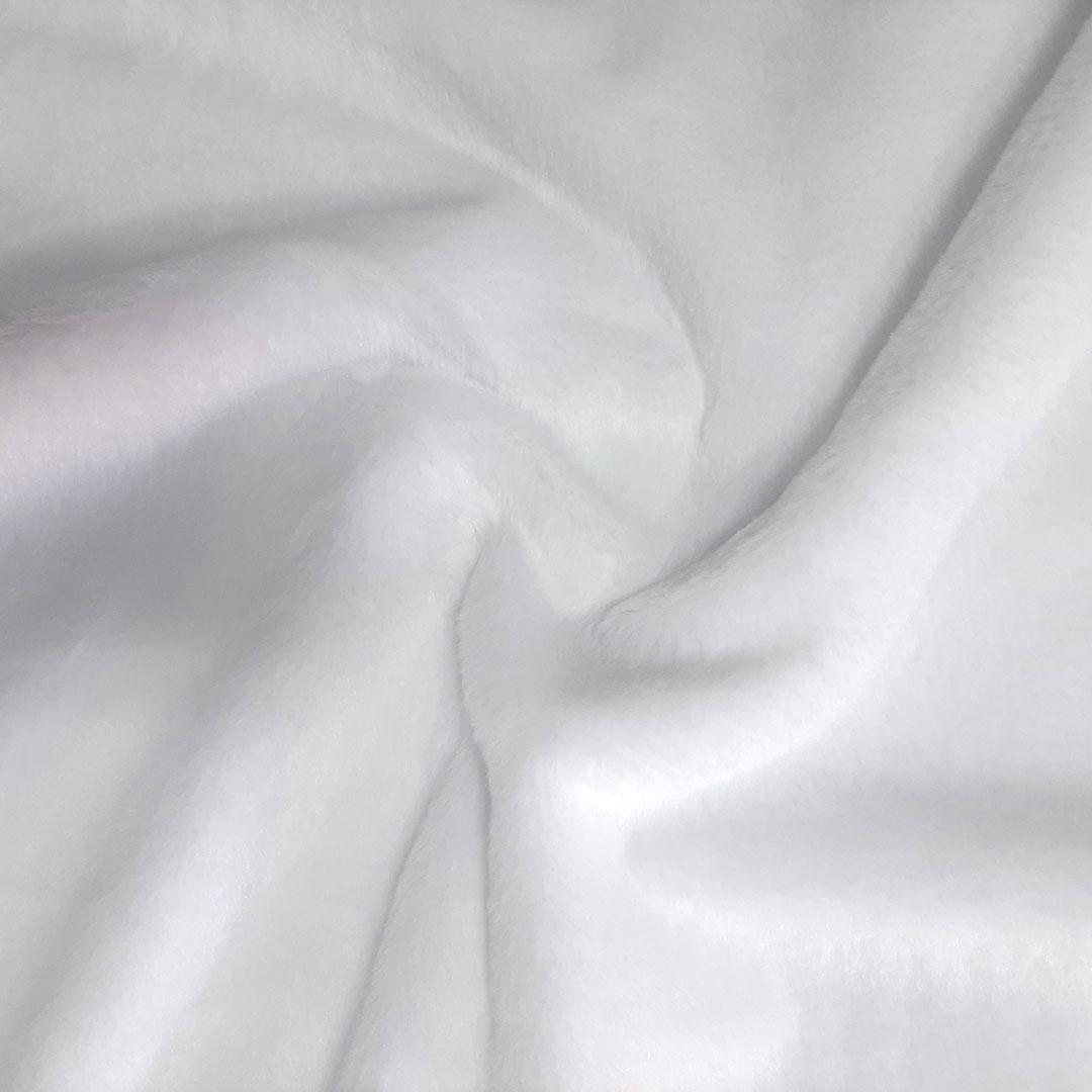 Tecido Pele Ágata Importada cor: Branco med. 0,50 x 1,60 m