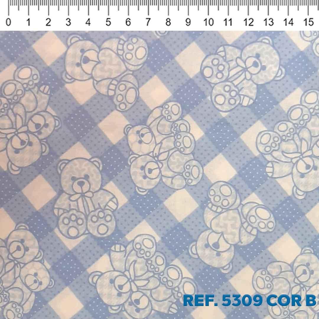 Tecido Tricoline para Patchwork Des. 5309 Cor: B Dohler 0,50 x 1,50 m