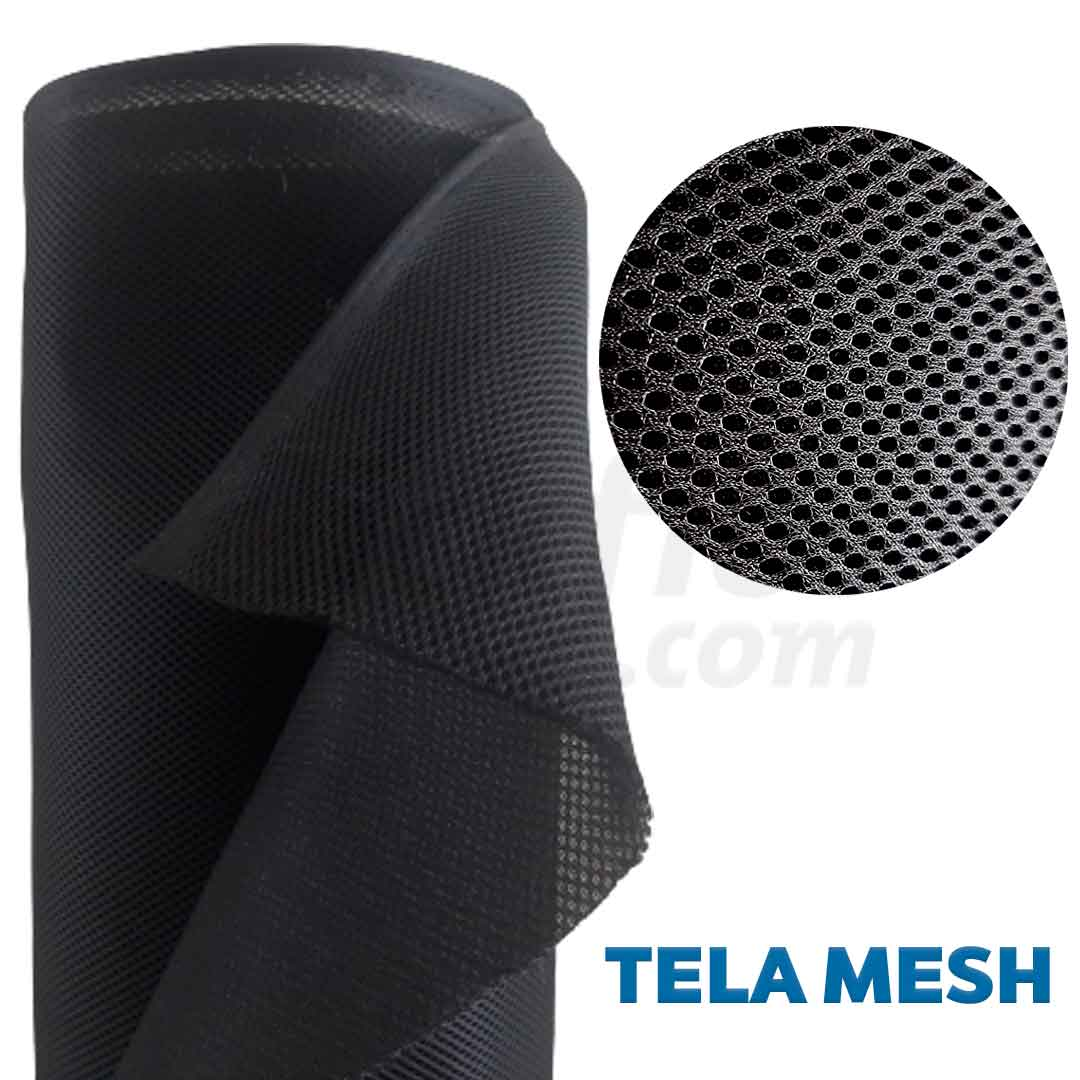Tela Mesh ou Space Preta 0,50 x 1,40 m