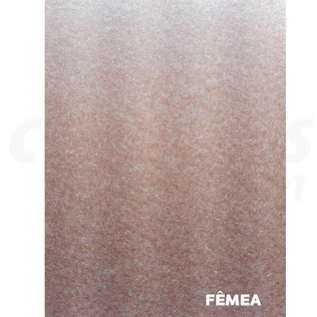 Velcro de 10 cm conjunto macho e fêmea na cor nude caixa com 25 metros