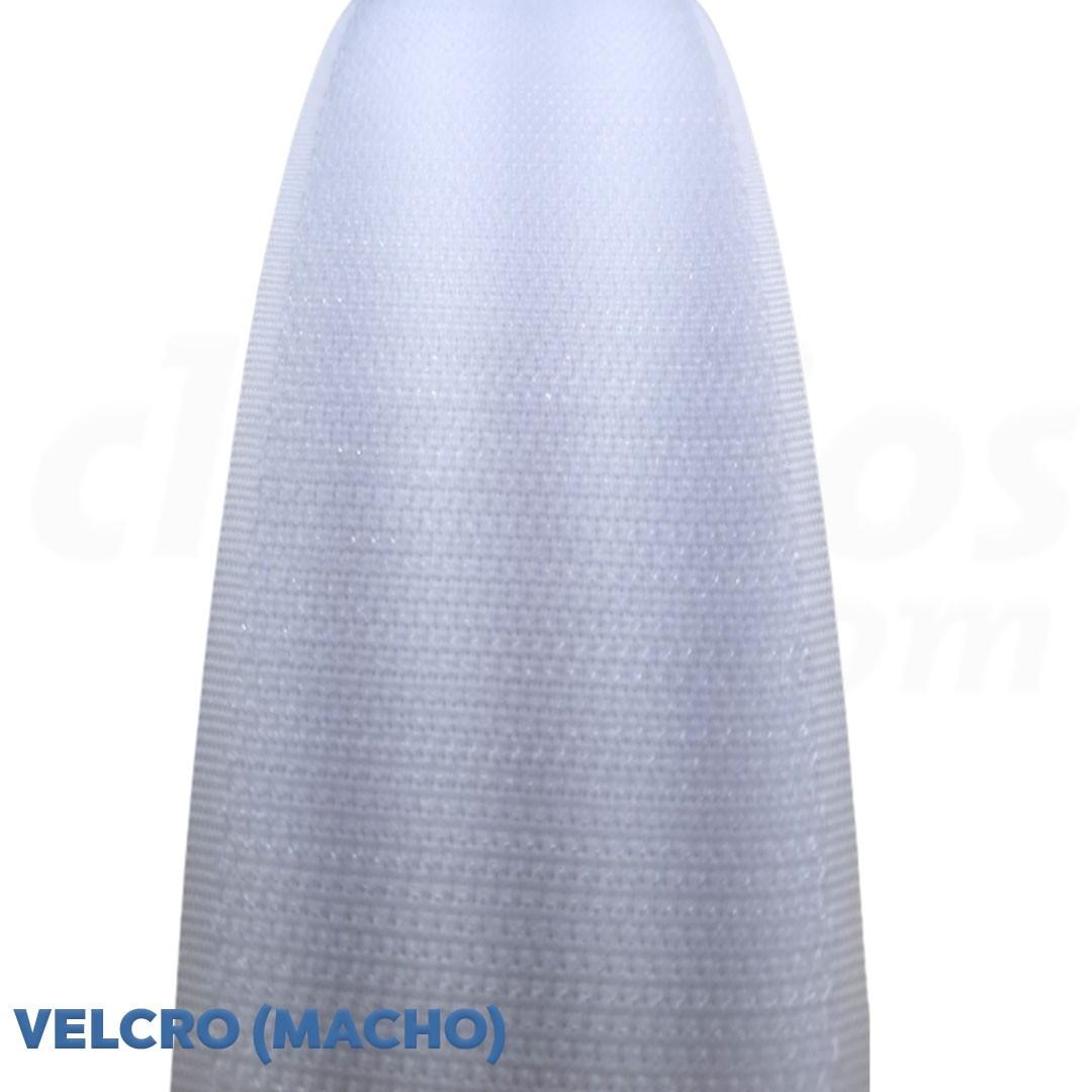 Velcro de 2,5 cm conjunto macho e fêmea na cor branco caixa com 25 metros